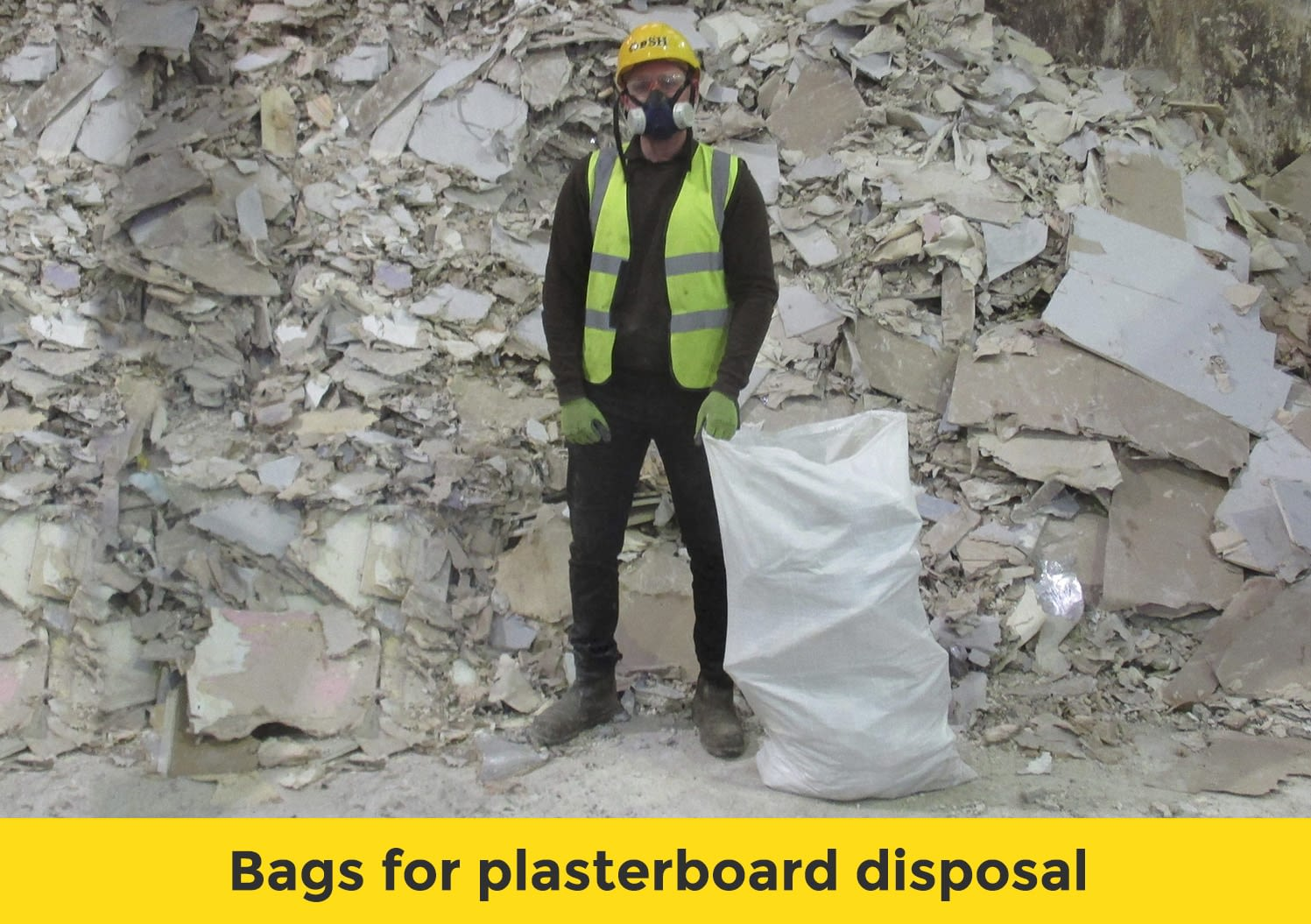 Bags for plasterboard disposal